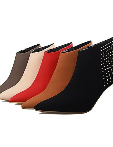 WSS 2016 Chaussures Femme-Extérieure / Bureau & Travail / Soirée & Evénement-Noir / Rouge / Poil de Chameau / Kaki / Amande-Talon Aiguille-Talons red-us7.5 / eu38 / uk5.5 / cn38