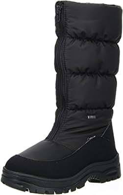 Vista Damen Winterstiefel Snowboots EISKRALLEN schwarz, Größe:36;Farbe:Schwarz