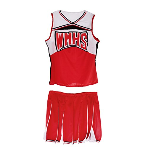 Sharplace Cheerleader Kostüm Schulmädchen Fancy Dress Uniform Karneval Party Outfit - S (Erwachsene Cheerleading Outfits)