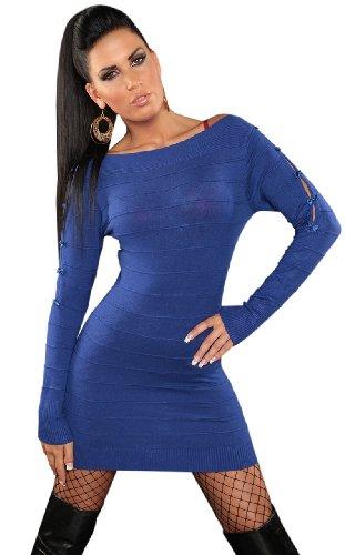 koucla-maglione-vestito-e-da-donna-con-cerniera-e-loop-decorato-taglia-unica-4-10-blue-blue-taglia-u