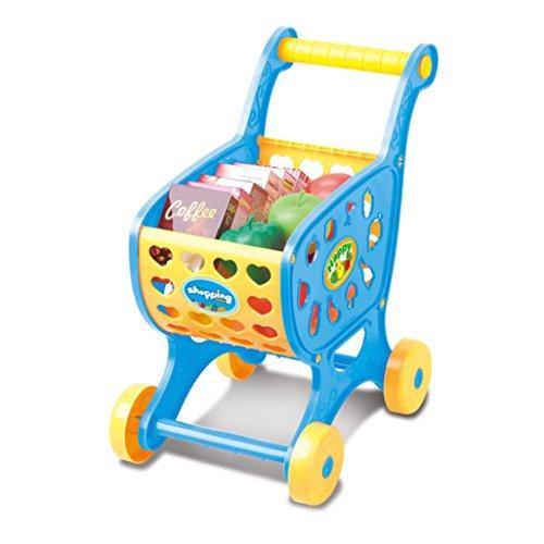 Spielzeug, mamum Einkaufswagen Obst Gemüse Pretend spielen Kinder Kid Educational Spielzeug Einheitsgröße blau ()