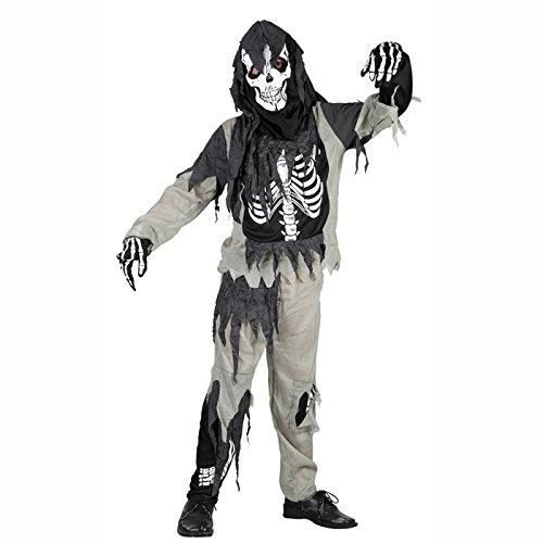 KBO78048 Kinder-Kostüm Zombie-Skelett, 4-6 (Skelett Zombie Kostüme)