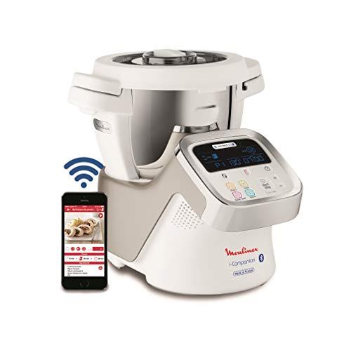Moulinex i-Companion HF900110 - Robot de cocina Bluetooth 13 programas y 6 accesorios capacidad 6...