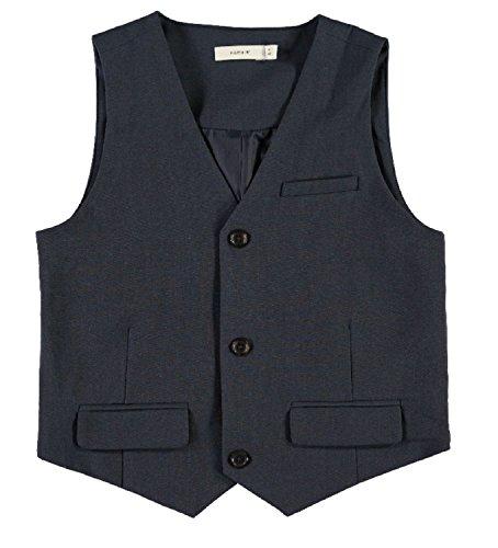 NAME IT Jungen Anzugweste NKMINGEMANN Waistcoat NOOS, Blau Dark Sapphire, (Herstellergröße: 110)
