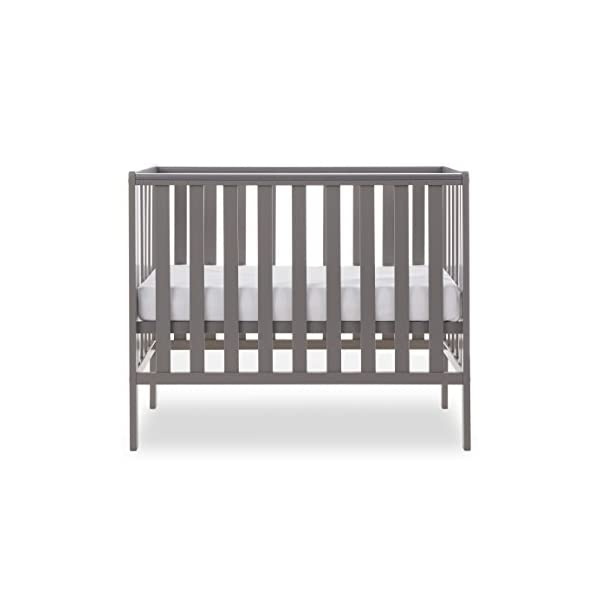 Obaby Bantam Space Saver Cot - Taupe Grey Obaby Adjustable, 3 position base height Beautiful slatted ends and sides help you keep an eye on your little one Teething rails ensure delicate teeth are protected 3