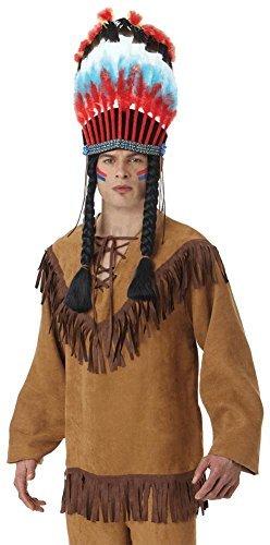 Nativen Fringe (Adults Mens Native American Fringe Fancy Dress Shirt by Amscan)