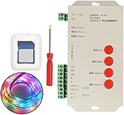 Rishil World DC5-24V T1000S SD Card LED Pixel RGB Full Color Controller for WS2812B 6803 WS2811 Strip Light