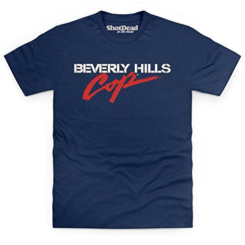 Official Beverly Hills Cop Logo T-Shirt, Herren, Dunkelblau, XL