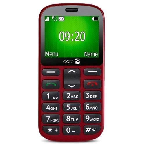 Doro 1361 Easy - Tel  fono M  vil  Memoria Interna DE 32  8 GB RAM   Color Rojo