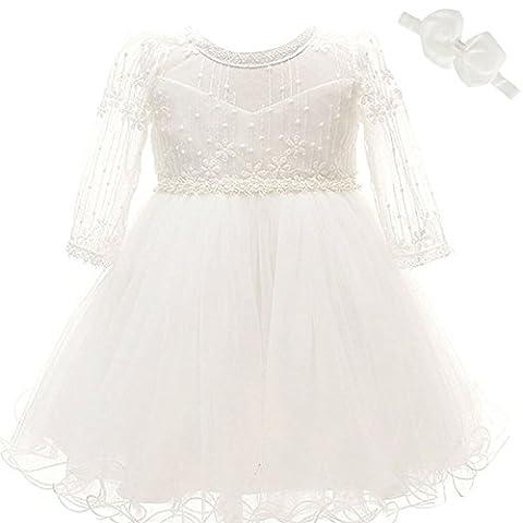 Baby Mädchen Kleid Taufe Besondere Gelegenheit lange Ärmel Weich Kleid