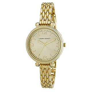 Laura Ashley Damen Analog Quarz Uhr mit Legierung Armband LA31006YG