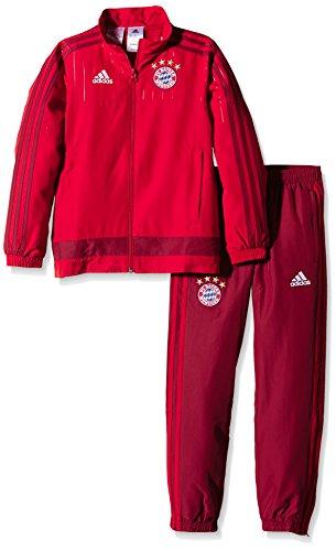 adidas Jungen Anzug FC Bayern München Präsentation, True Red/Craft Red, 164, S27385