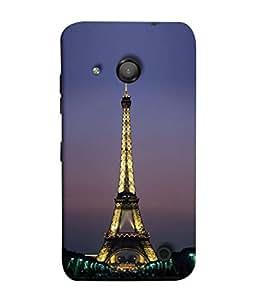 PrintVisa Designer Back Case Cover for Lumia Lumia 550 (antique brass look eiffel tower)