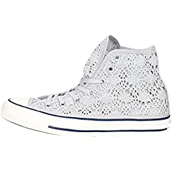 Converse - Cuck Taylor All Star hi Crochet - Zapatillas Altas - Silver/White/Navy