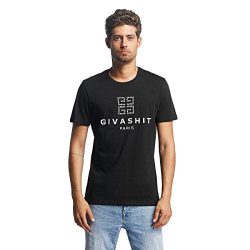 French Kick Uomo Maglieria/T-Shirt Shit Nero