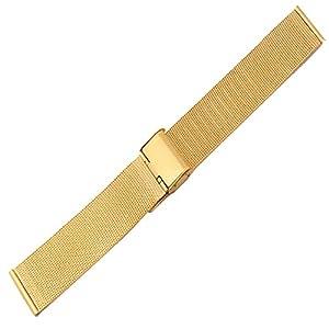 Nueva correa de reloj de oro de malla de acero inoxidable de alta calidad Milanese 20mm por YMID Select