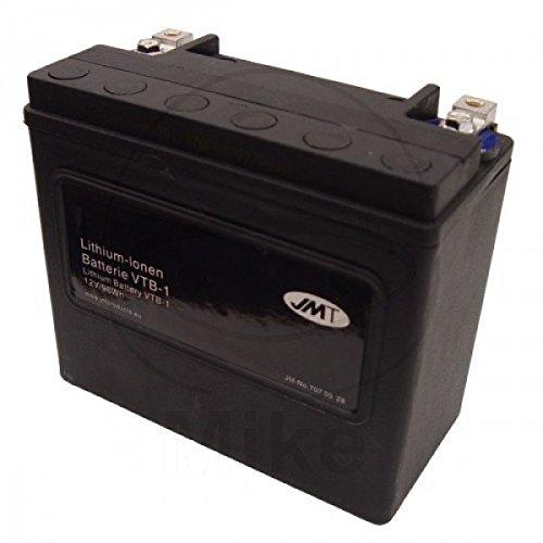 JMT LITHIUM-IONEN Motorrad Batterie V-Twin 12 Volt für V2 Motoren | LiFePO4 | VTB-1 passend für Harley Davidson FXDWG 1690 Dyna Wide Glide ABS, GPM, Bj. 2015 [Preis ist inkl. Batteriepfand] (Gpm Motor)