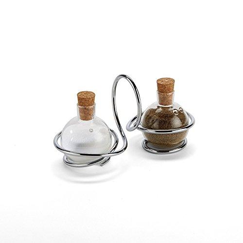 Salz & Pfeffer Loop - Set aus verchromtem Stahl und Glas von Black+Blum Design Black Blum Loop