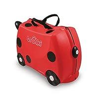 La valigia Trunki Harley coccinella accompagna i bambini da 3 a 6 anni. Questa valigetta può essere utilizzata a cavalcioni affinché i bambini possano farsi trasportare quando sono troppo stanchi. Sostiene un peso massimo di 50 Kg e offre un ...