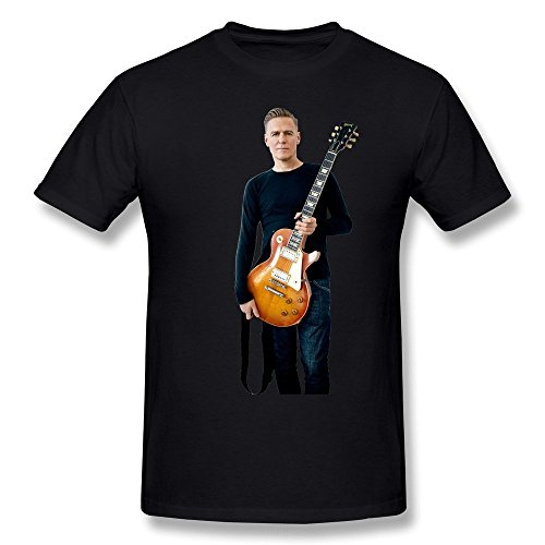 Preisvergleich Produktbild Sluggish min HUAYUANDA Men's Bryan Adams Guitar Player T-shirt Black