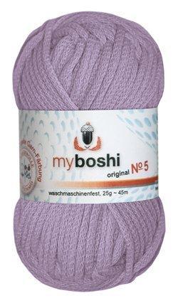 Myboshi No. 5, Farbe 561 candy purpur, 25g Knäuel, Sommerwolle, häkeln, Seelengarn, 57% Baumwolle und 43% Polyamid, Trendwolle, Häkel- & Strickgarn