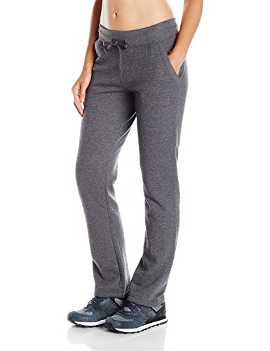 Champion Women's Fleece Open Bottom Pants L Grey (Bottom Pant Fleece Open)