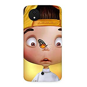 Gorgeous Confused Funny Boy Back Case Cover for Micromax Canvas A1