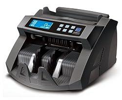 BisBro Technology Geldzählmaschine BB-2150C | Schneller Prüfer und Zähler | Zählt sicher 1000 Geldscheine in der Minute | Erkennt Falschgeld sofort | Euro | US-Dollar | Pfund