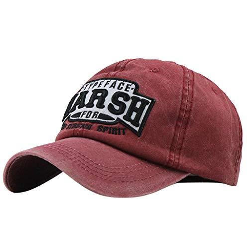 Syeytx Unisex Cotton Harsh Lässige Bestickte Denim Brief Hut Fashion Baseball Cap Topee
