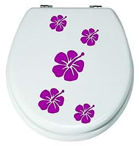 Fiori Set a lilla, 5pezzi.WC adesivi 3–8cm, per WC-adesivi, adesivi, da bagno piastrelle fiori colore decorativo (colore inviare in un messaggio tramite Amazon con)