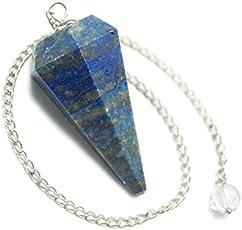 Excel Blue Lapis Lazuli Faceted Healing Reiki Pendulum