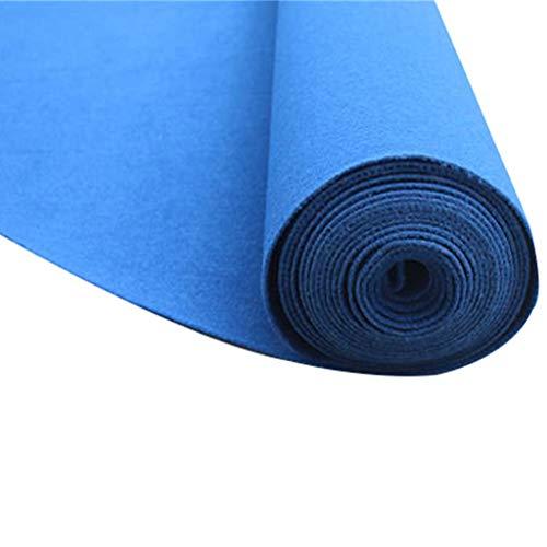 Verdicken Sie wiederverwendbaren Wegwerf 2MM blauen Teppich-Vlies Rollender Läufer Skid für T-Taiwan/Hotel/Gang/Korridor/Hochzeits-Wolldecke