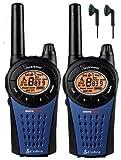 12Km Cobra MT975 Dos Vías PMR 446 Walkie Talkie Licencia Libre Radio Con Comtech CM-15PT PTT Hndsfree Auriculares - Azul, Twin