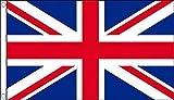 5ft x 3ft (150x 90cm) Union Jack United Kingdom Großbritannien 100% Polyester Material Flagge Banner Ideal für Pub Club Schule Festival Business Party Dekoration
