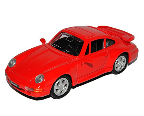 Porsche 911 993 Turbo Coupe Rot 1993-1998 1/43 Yatming Modell Auto