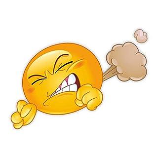 easydruck24de 1 Smiley-Aufkleber Pups I kfz_253 I 12,5 x 9 cm I Emoji Sticker für Motorrad Roller Auto-Aufkleber Auspuff-Aufkleber Badezimmer-Aufkleber wetterfest