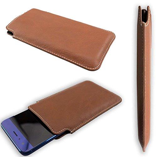 caseroxx Tasche/Hülle Business-Line Etui Cubot H2 - Schutzhülle für Smartphone (Handy Sleeve in braun)
