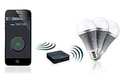 """CASAcontrol WLAN Lampen: WiFi-Beleuchtungs-System""""Weiß"""" inkl. 3 LED-Lampen, E27 (WLAN Leuchten)"""