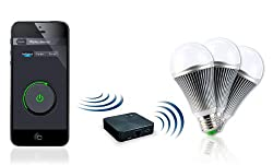 "CASAcontrol WiFi Leuchtmittel: WiFi-Beleuchtungs-System""Weiß"" inkl. 3 LED-Lampen, E27 (WiFi Lampen Starter Sets)"
