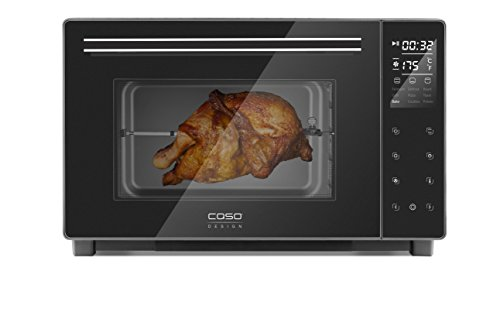 Orkaitė Caso Electronic Oven TO 32 Juodas, Easy to clean: Interior with high-quality anti-stick coating, Sensor touch, Height 34.5 cm, Plotis 54 cm, 32