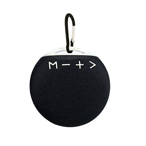 Bluetooth Lautsprecher,NETVIP Kabellose Tragbare Außen Lautsprecher,Reise/Sport/Outdoor/Auto Mini Wireless Speaker mit HD Sound und Enhancend Bass,Eingebautem Mikrofon,Freisprechen(Schwarz)