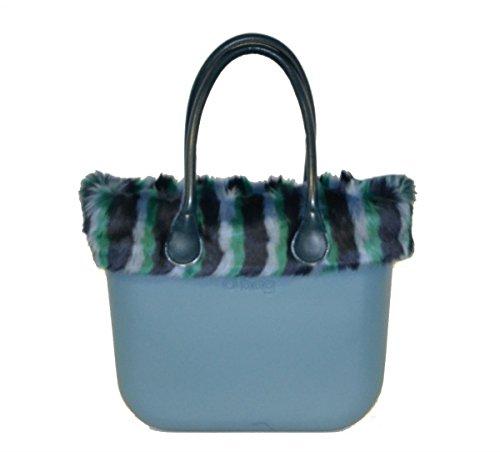 Big O Bag Borsa o tasche con eco pelliccia bordo e manici