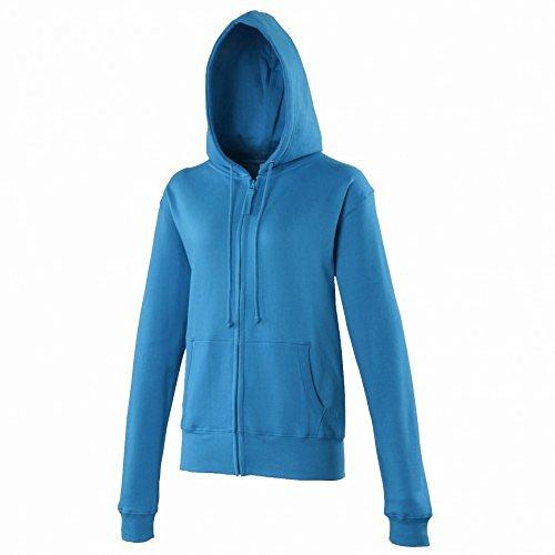 Awdis - Sweatshirt à capuche et fermeture Éclair - Femme Bleu Saphir