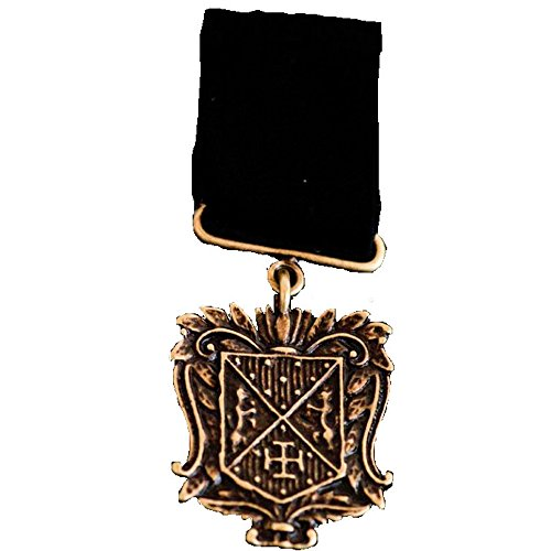 Black Tulip Steampunk Medal. Great Cosplay Military Style Vintage Victorian Medal.