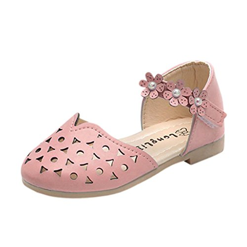 Baby Mode Sneaker Kinder Mädchen Casual Sandalen Floral Leder Pricness Schuhe Unisex / Leder / Gummi / 1 Paar Babyschuhe / Casual Style (EU:25, Schöne Rosa) (Mädchen Sandalen Verkauf)