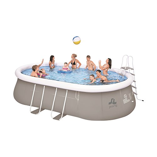 Jilong Sirocco Quick-Up Swimming Pool Set 540x106 cm mit Pool Becken Pumpe Leiter Bodenplane Abdeckplane