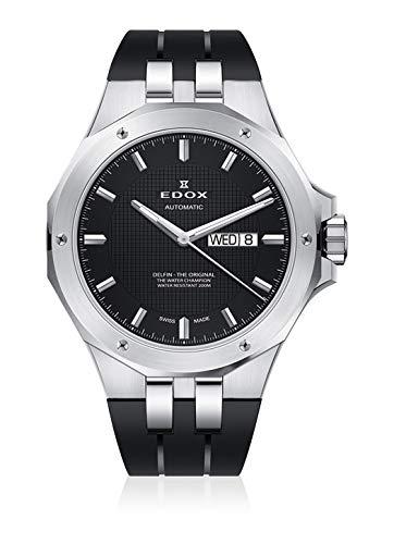 Edox Orologio da polso da uomo, Delfino, giorno della settimana, analogico, automatico 88005 3CA NIN