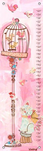 Oopsy Daisy Collage (Oopsy Daisy Curious Kitty Winborg Sisters Growth Charts, Pink, 12 X 42