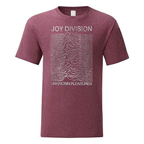 LaMAGLIERIA Camiseta Hombre Joy Division - Grunge Texture T-Shirt...