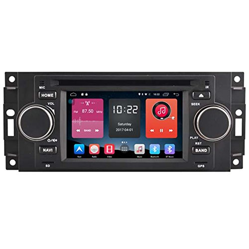 autosion in Dash Android 6.0 Auto DVD-Player Radio Head Unit GPS Navigation Stereo für Chrysler 300 C JEEP COMMANDER Dodge Ram Caliber Mitsubishi Raider unterstützt Bluetooth SD USB Radio OBD WIFI DVR 1080P (Radio Dodge Navigation 2007 Ram)